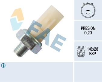 Capteur, pression d'huile FAE 12991 (X1)