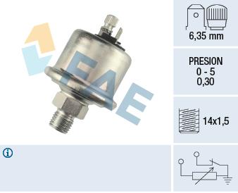 Capteur, pression d'huile FAE 14560 (X1)