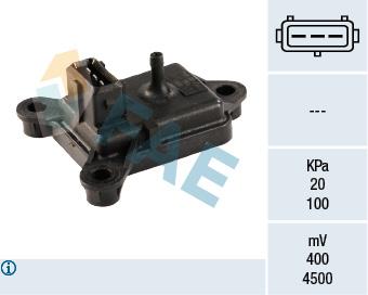 Capteur, pression du tuyau d'admission FAE 15006 (X1)