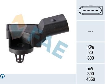 Capteur, pression du tuyau d'admission FAE 15007 (X1)
