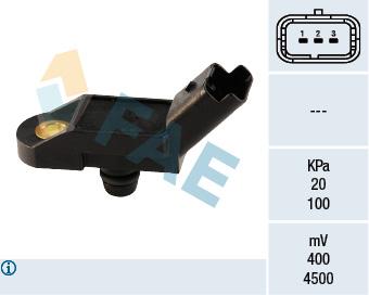 Capteur, pression du tuyau d'admission FAE 15009 (X1)