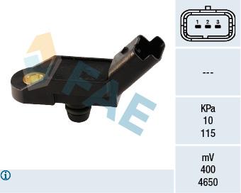 Capteur, pression du tuyau d'admission FAE 15011 (X1)
