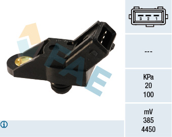 Capteur, pression du tuyau d'admission FAE 15012 (X1)