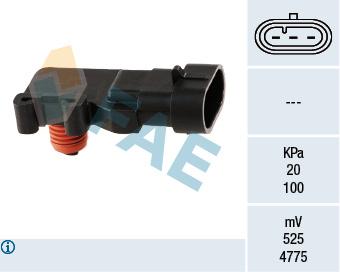 Capteur, pression du tuyau d'admission FAE 15013 (X1)
