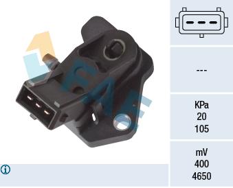 Capteur, pression du tuyau d'admission FAE 15014 (X1)