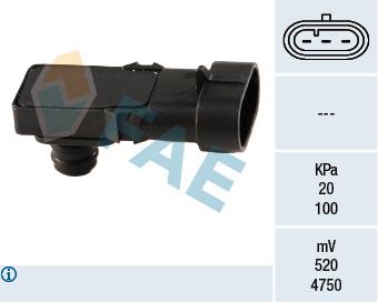 Capteur, pression du tuyau d'admission FAE 15016 (X1)