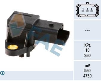 Capteur, pression du tuyau d'admission FAE 15017 (X1)
