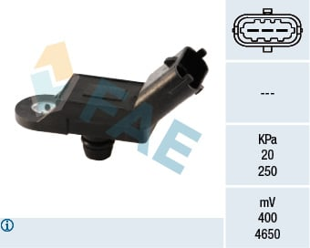 Capteur, pression du tuyau d'admission FAE 15019 (X1)