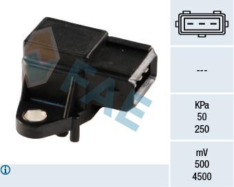 Capteur, pression du tuyau d'admission FAE 15024 (X1)
