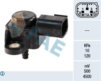 Capteur, pression du tuyau d'admission FAE 15025 (X1)
