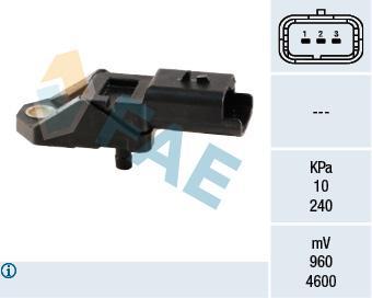 Capteur, pression du tuyau d'admission FAE 15027 (X1)