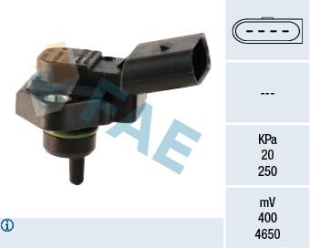 Capteur, pression du tuyau d'admission FAE 15030 (X1)