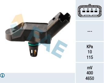 Capteur, pression du tuyau d'admission FAE 15035 (X1)