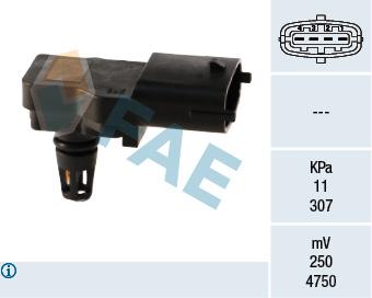 Capteur, pression du tuyau d'admission FAE 15036 (X1)
