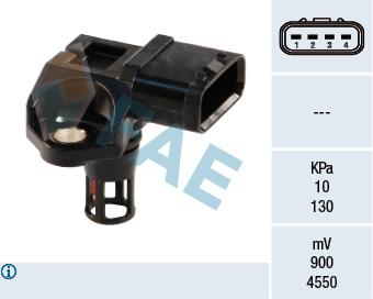 Capteur, pression du tuyau d'admission FAE 15040 (X1)