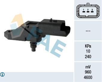 Capteur, pression du tuyau d'admission FAE 15046 (X1)