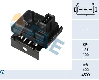 Capteur, pression du tuyau d'admission FAE 15047 (X1)