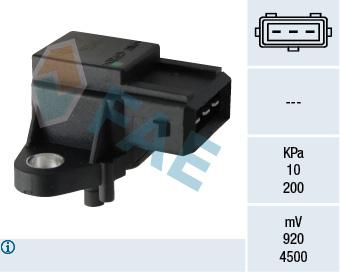 Capteur, pression du tuyau d'admission FAE 15048 (X1)