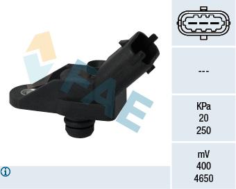 Capteur, pression du tuyau d'admission FAE 15057 (X1)
