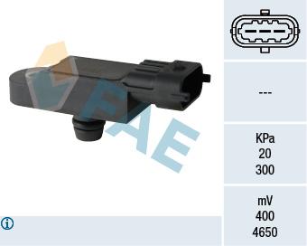 Capteur, pression du tuyau d'admission FAE 15068 (X1)