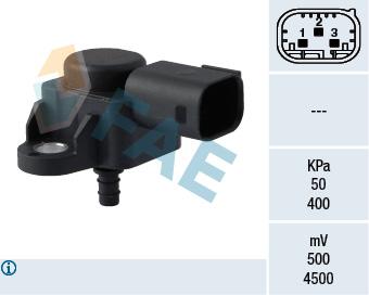 Capteur, pression du tuyau d'admission FAE 15089 (X1)