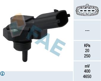 Capteur, pression du tuyau d'admission FAE 15094 (X1)