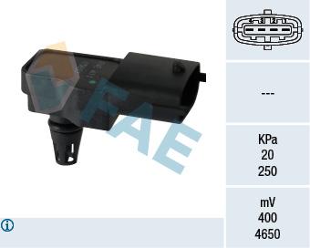 Capteur, pression du tuyau d'admission FAE 15097 (X1)