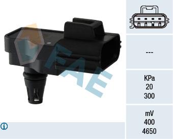 Capteur, pression du tuyau d'admission FAE 15098 (X1)