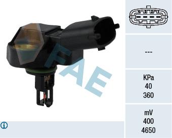 Capteur, pression du tuyau d'admission FAE 15101 (X1)