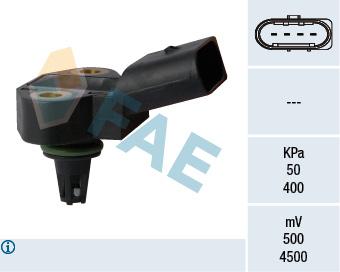Capteur, pression du tuyau d'admission FAE 15102 (X1)
