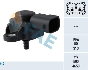 Capteur, pression du tuyau d'admission FAE 15103 (X1)