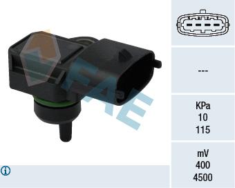 Capteur, pression du tuyau d'admission FAE 15118 (X1)