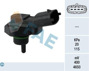 Capteur, pression du tuyau d'admission FAE 15119 (X1)