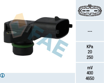 Capteur, pression du tuyau d'admission FAE 15123 (X1)