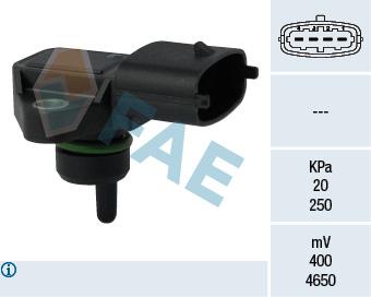 Capteur, pression du tuyau d'admission FAE 15124 (X1)