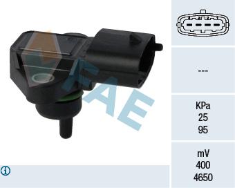 Capteur, pression du tuyau d'admission FAE 15126 (X1)