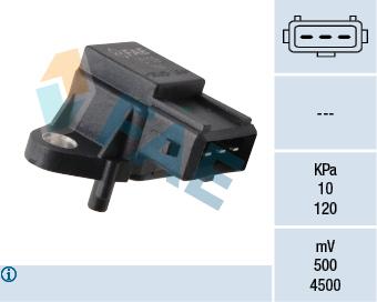 Capteur, pression du tuyau d'admission FAE 15139 (X1)