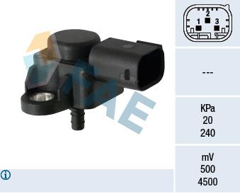 Capteur, pression du tuyau d'admission FAE 15180 (X1)