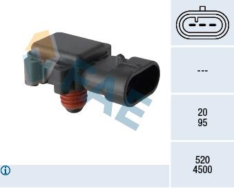 Capteur, pression du tuyau d'admission FAE 15199 (X1)