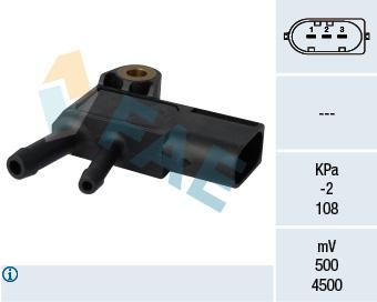 Capteur, pression des gaz échappement FAE 16100 (X1)