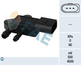 Capteur, pression des gaz échappement FAE 16101 (X1)