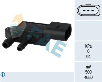 Capteur, pression des gaz échappement FAE 16103 (X1)
