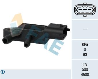 Capteur, pression des gaz échappement FAE 16106 (X1)