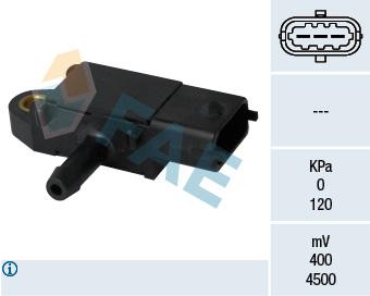Capteur, pression des gaz échappement FAE 16108 (X1)