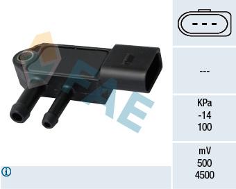 Capteur, pression des gaz échappement FAE 16109 (X1)