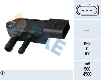 Capteur, pression des gaz échappement FAE 16112 (X1)