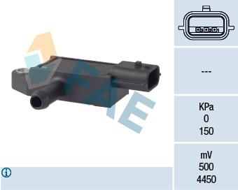 Capteur, pression des gaz échappement FAE 16113 (X1)