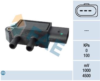 Capteur, pression des gaz échappement FAE 16115 (X1)