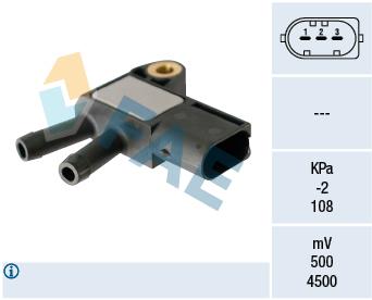 Capteur, pression des gaz échappement FAE 16116 (X1)
