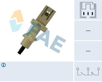 Contacteur de feu stop FAE 24410 (X1)